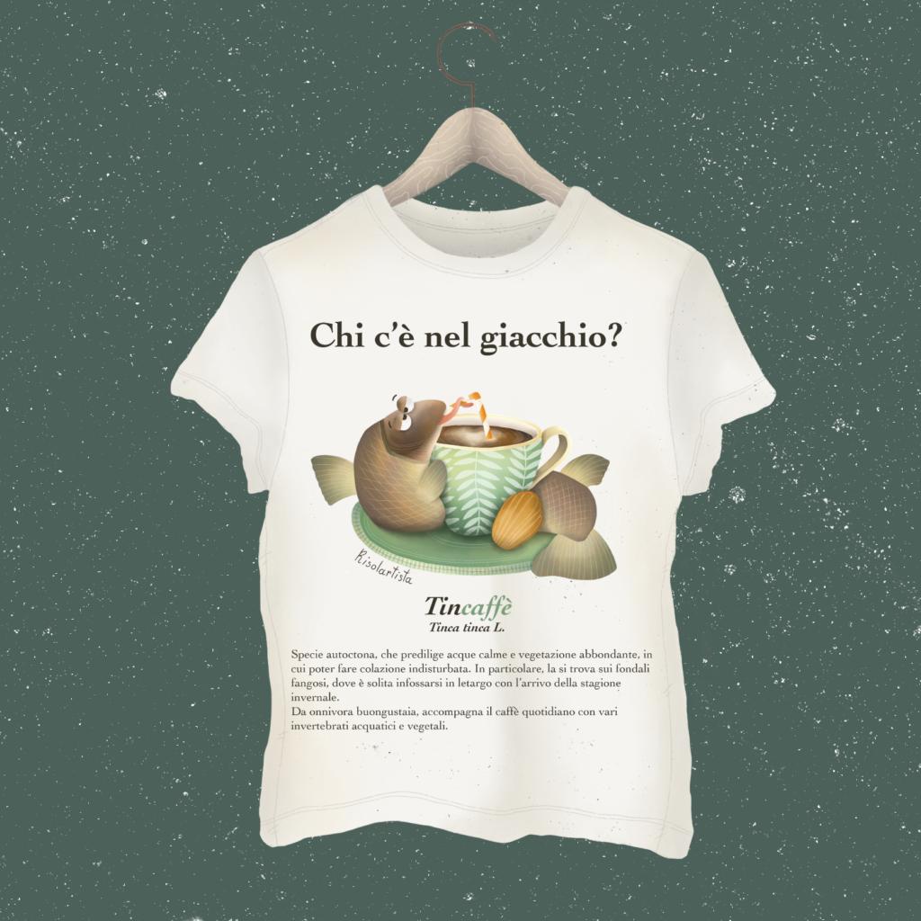Grafica per magliette con tinca del Lago Trasimeno
