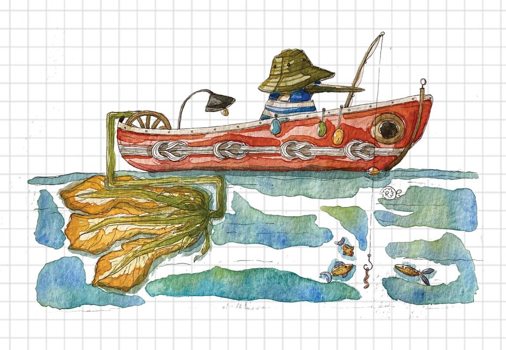 barca sul lago del pescatore