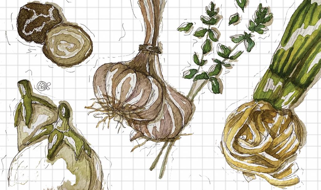 Tagliolini tartufo aglio melanzana
