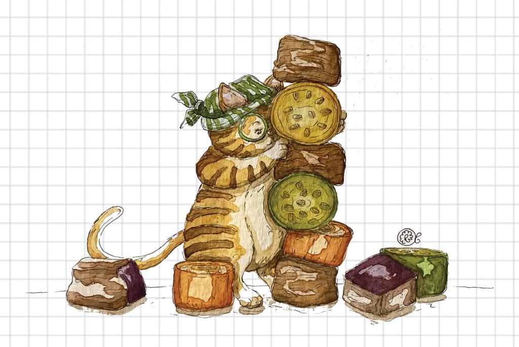 Gatto cuoco illustrazione